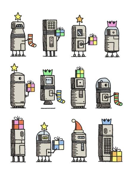 TOMGAULDTwelveChristmasRobots