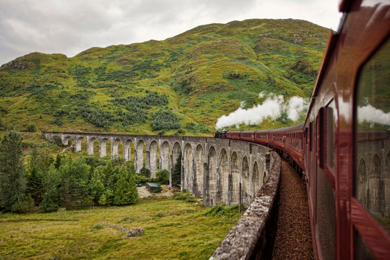 Jacobite Steam Train - Glenfinnan Viaduct - Scotland